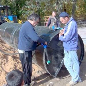 15-06-2015 Монтаж оборудования на емкость.